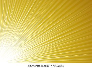 Gold glitter sparkles radial rays lights bokeh festive elegant abstract background.