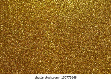 Gold glitter for texture or background