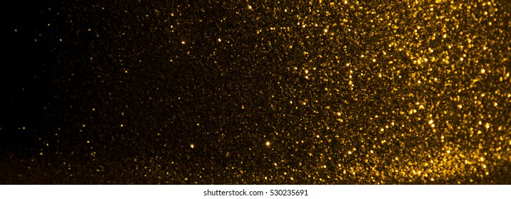gold glitter texture christmas abstract - panoramic background or bokeh with blank space
