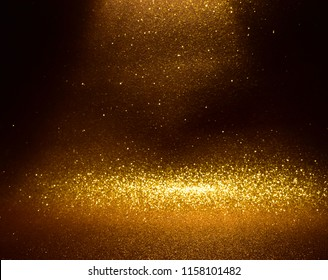 gold glitter vintage lights background.