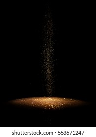The gold glitter which lies thick on the ground