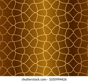 Gold gradient over gold background islamic seamless pattern vector background design