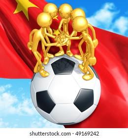 Gold Guys Soccer Football