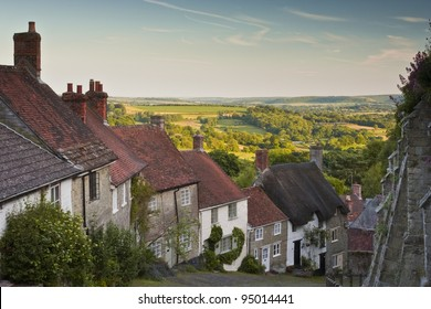 Gold Hill in Shaftesbury, Dorset.