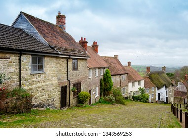 Gold Hill in Shaftesbury, Dorset England