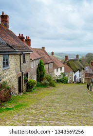 Gold Hill in Shaftsbury Dorset England