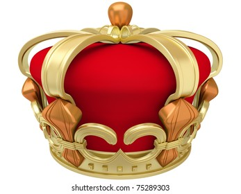 Gold imperial crown isolated on a white background