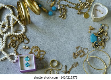 gold jewelery - chains, rings and bracelets