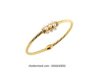 Gold jewellery bracelet