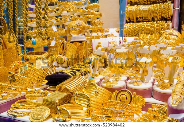 Gold Jewelry Egyptian Bazaar Grand Bazaar Stock Photo (Edit Now