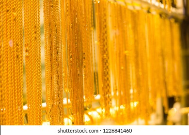 gold jewelry  golden chain for women fashion Dubai's famous Gold Souk -image