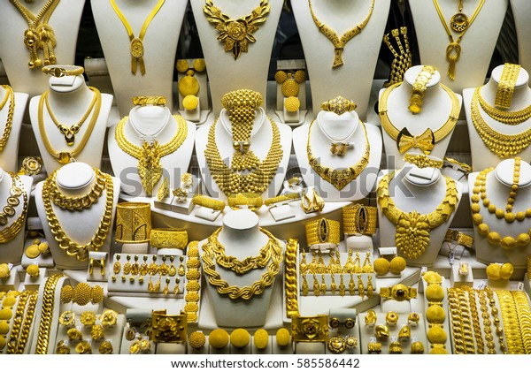 Gold Jewelry Grand Bazaar Istanbul Turkey Stock Photo (Edit Now