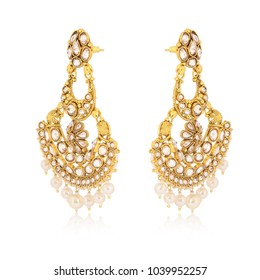 Gold jhumka earring set for perfect one