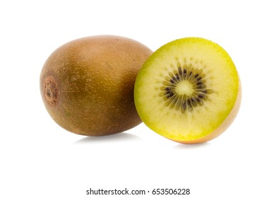 gold kiwi isolated on white background