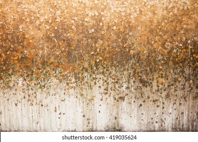 Gold leaf on the wall background