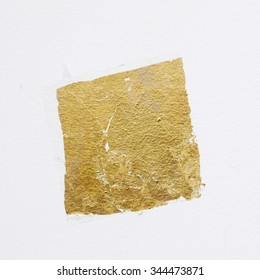 gold leaf on white wall texture background