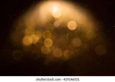 gold light bokeh background