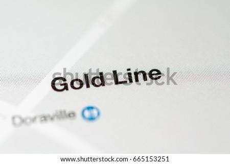 Gold Line Station Atlanta Metro Map Stock Photo Edit Now 665153251