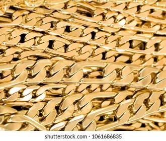 Gold link braclets