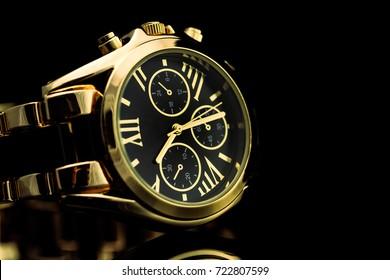 Gold luxury watch 1