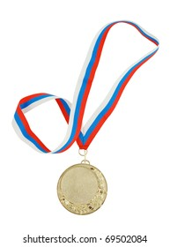 Gold medal isolated on white