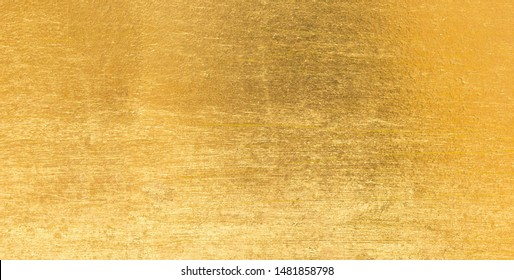 Gold metal background surface industry yellow steel plate