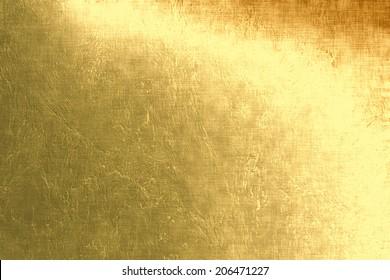Gold metallic background, linen texture, bright festive background
