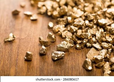 Gold, mine, nugget.
