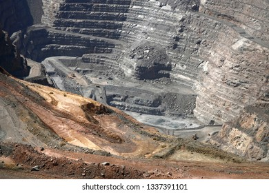 Gold Mine Super Pit at Kalgoorlie, Western Australia.View to the bottom of the Pit