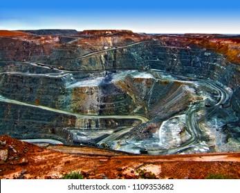 Gold mine in Western Australia