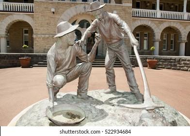 Gold Miners Statue - Perth - Australia