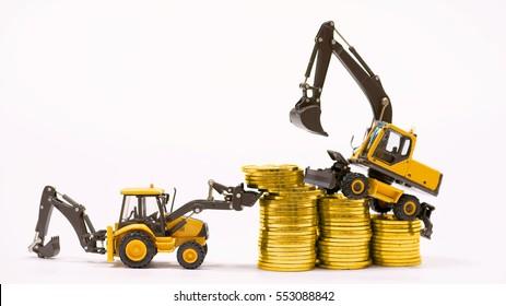 gold mining excavator