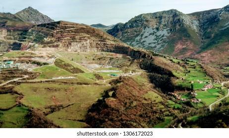 Gold mining in Boinás valley, Belmonte de Miranda, Asturias, Spain