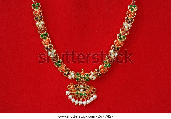 Gold necklace and Pendant