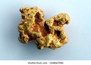 Gold nugget background close up