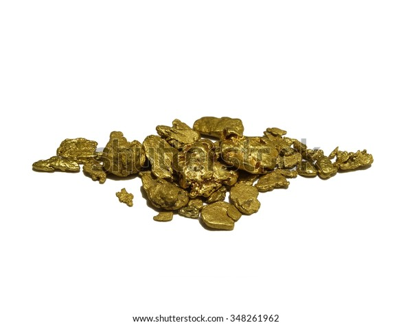 Gold Nuggets. Authentic gold nuggets from Western Australia. Conceptual symbol for wealth, treasure, investment, prospecting, natural elements, resources and more.