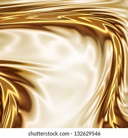Gold on the white drapery artistic texture