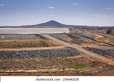 Gold ore slurry pit. Barrick Cowal Gold Mine in New South Wales,  Australia.