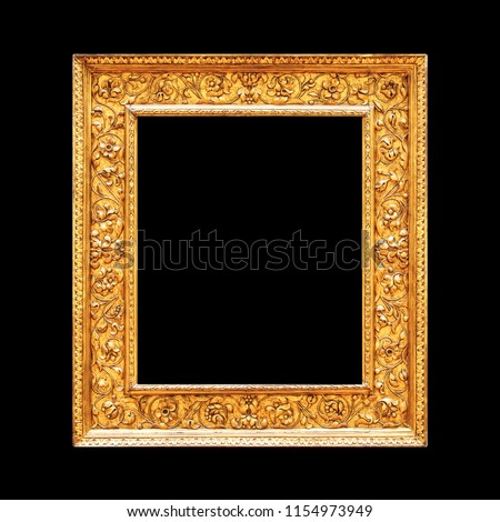 74f13ee6e9a Gold Ornamental Rectangle Frame Isolated On Stock Photo (Edit Now ...