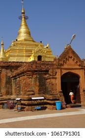 Gold pagoda of Gubyauk nge  Bagan Myanmar (Burma)