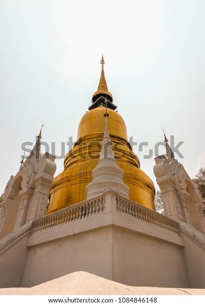 Gold pagoda at Wan Suan Dok, Thailand