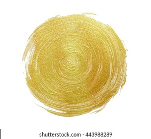 gold paint on white paper. Abstract gold glittering textured.