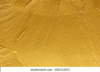 gold paint stone texture glitter for abstract background.
