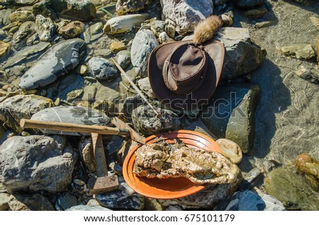 Gold Pan Nugget Hoe Stock Photo (Edit Now) 675101179 - Shutterstock