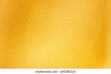 Gold paper texture background Yellow flat sheet