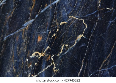 Gold pattern natural of blue gray marble texture, abstract background for product design.