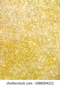 Gold pearl sequins, shiny glitter background/I shine in a lozenge
