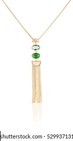 Gold pendant stylish women. Women's fashion jewelry. The best gift for Christmas.
