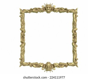 gold Picture Frame with gold decoration.