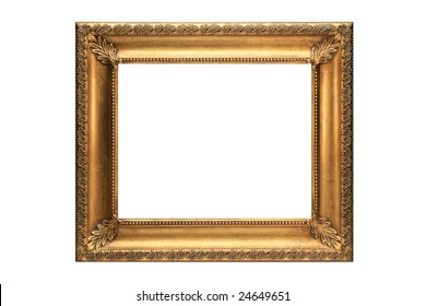 Gold Picture Frame on a white background